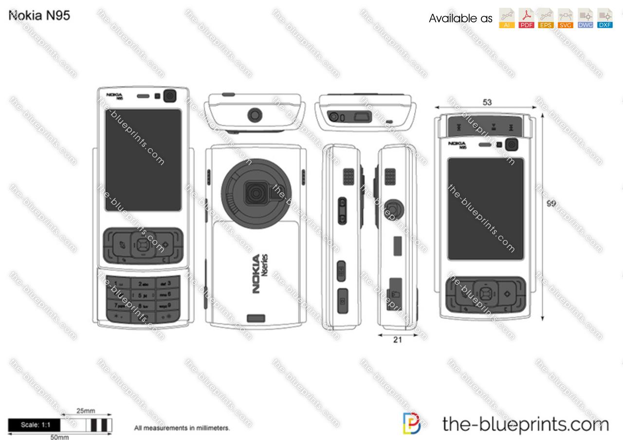 Nokia N95 Vector Drawing
