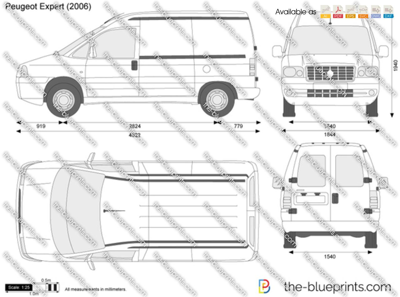 Peugeot Expert Vector Drawing