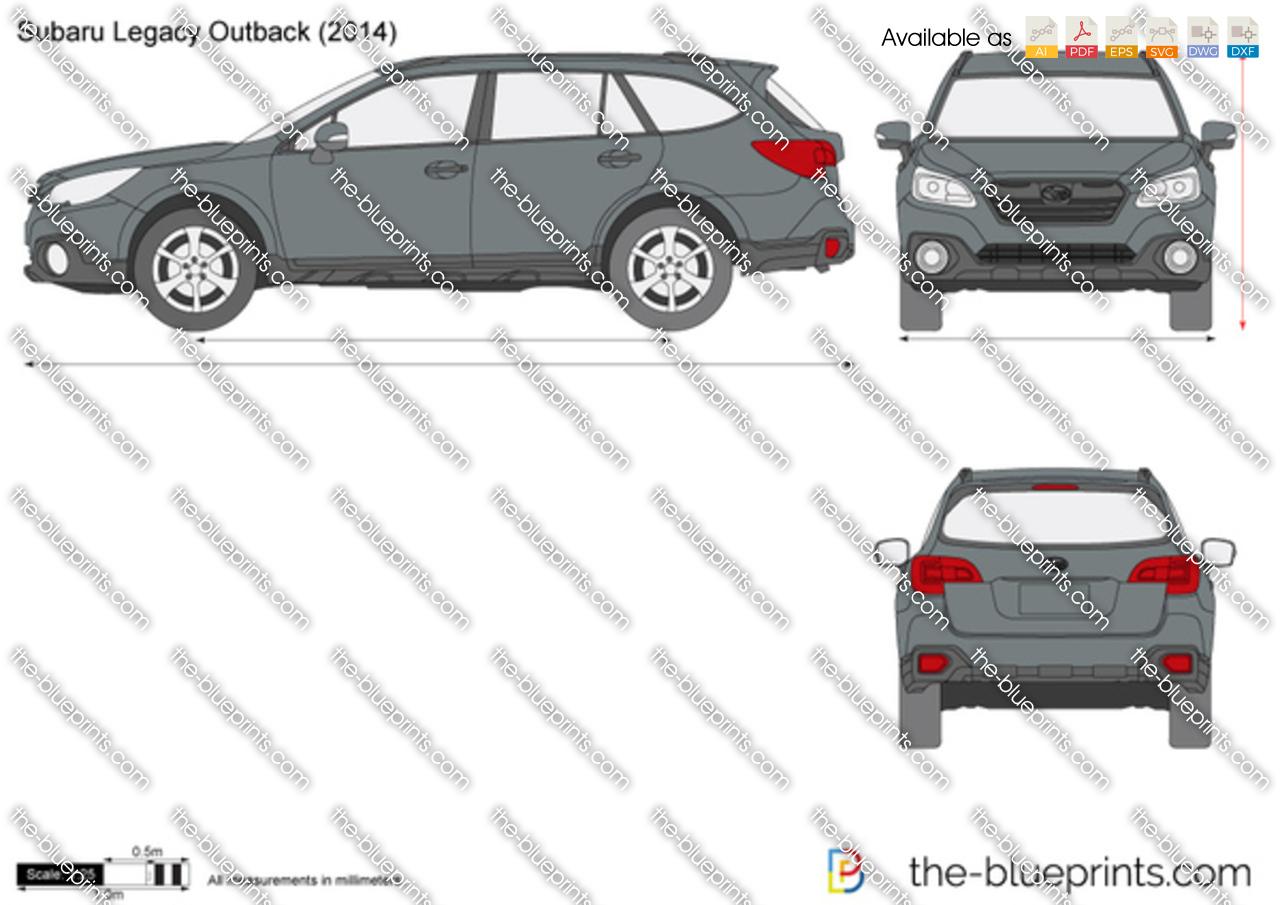 Subaru Legacy Outback Vector Drawing