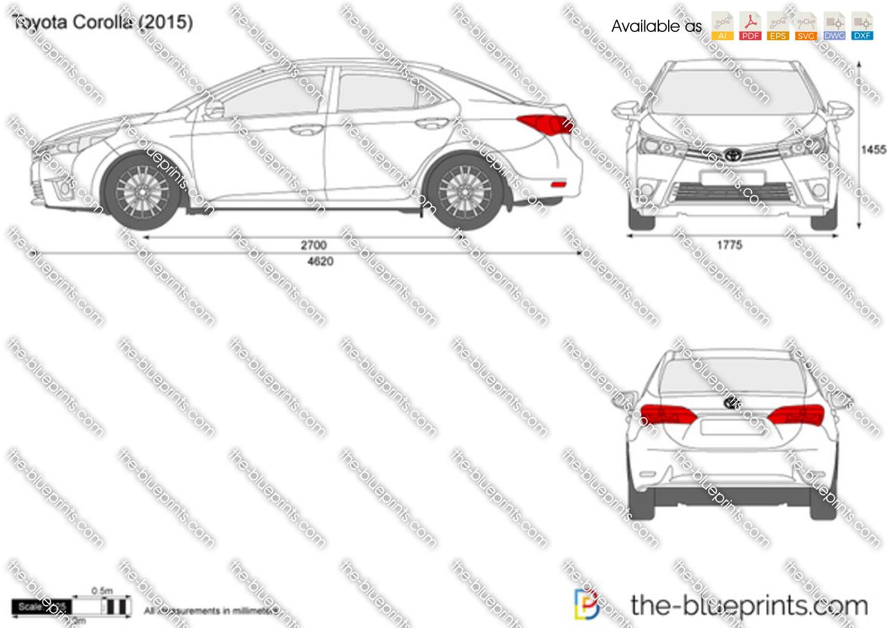 Toyota Corolla Vector Drawing