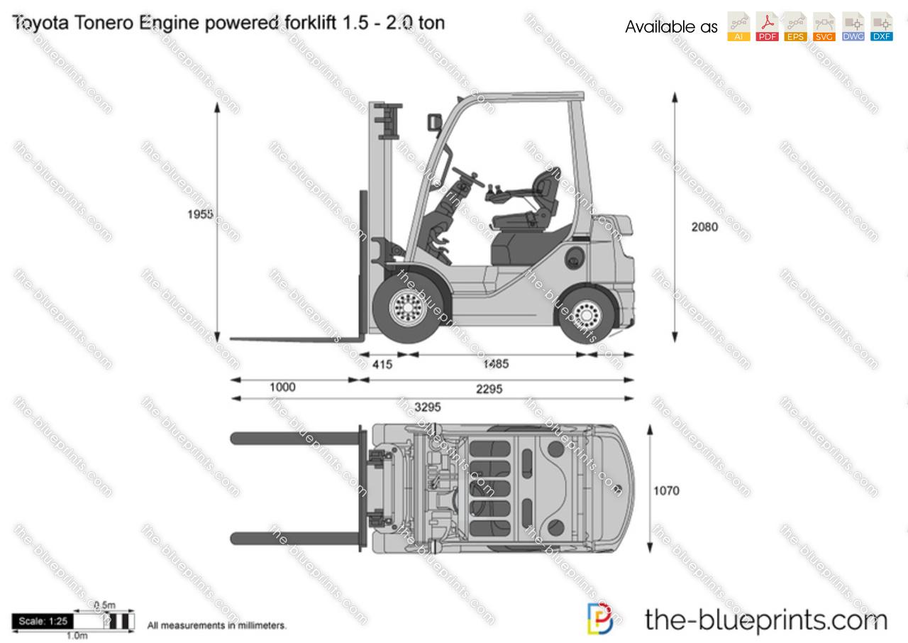 Toyota Tonero Engine Powered Forklift 1 5