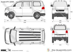 Suzuki APV vector drawing