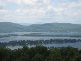 View of Lake George from a Hike