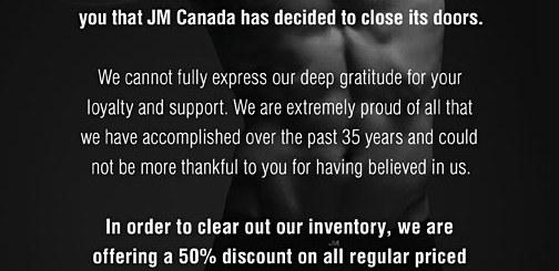 JM Closing It's Doors