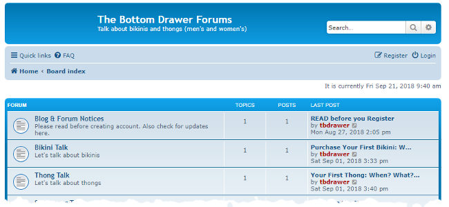 The Bottom Drawer Forums