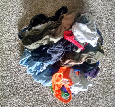 Bikini and Thong Trash Pile