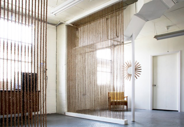 Functional Decor Ideas Rope Room Divider