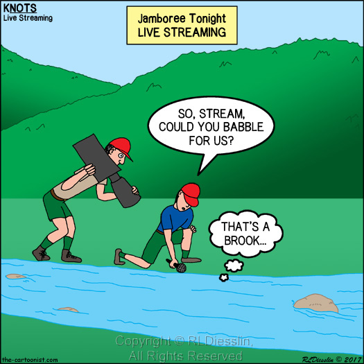 Jamboree Tonight Live Streaming - KNOTS Scout Cartoon for ...