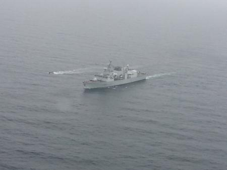 HMCS Halifax steams in Atlantic