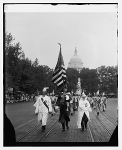 Ku Klux Klan on the march down Pennsylvania Ave. in Washington DC in 1926
