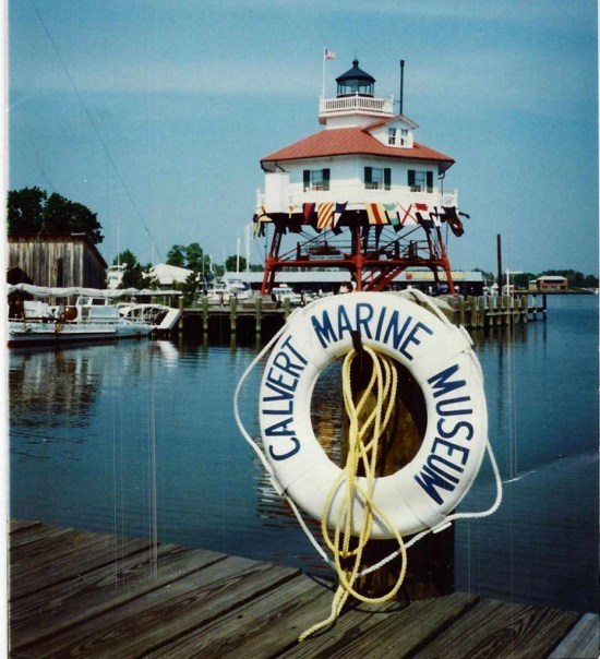 Drum Point Lighthouse formerly stood at Drum Point on the Patuxent River and was moved to the Calvert Marine Museum at Solomon's Island. THE CHESAPEAKE TODAY photo