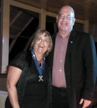 The Talking Fisherman and Mrs. Catfish Jarboe.  THE CHESAPEAKE TODAY photo