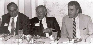"St. Mary's County Md. County Commissioner Larry Millison, Sen. Paul Jacob Bailey and Maryland Senate President Thomas E. ""Mike"" Miller Jr.at a roast of Millison in 1989 noting him being selected Democrat of the Year."