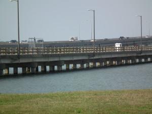 Old Choptank River bridge retained as the Bill Burton Fishing Pier. THE CHESAPEAKE TODAY photo