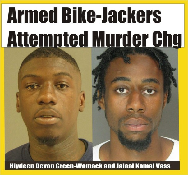 Armed Bike-Jackers face att murder rap