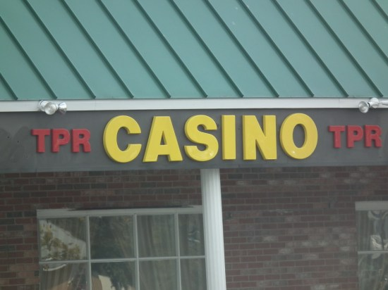The Casino above, was operated by George Wells and closed down by police. The one below, set up at the same time, closed down after police began an investigation. THE CHESAPEAKE TODAY photo