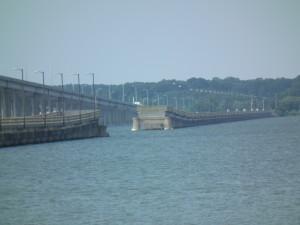 Draw span yawns without a bridge on Choptank River. THE CHESAPEAKE TODAY photo