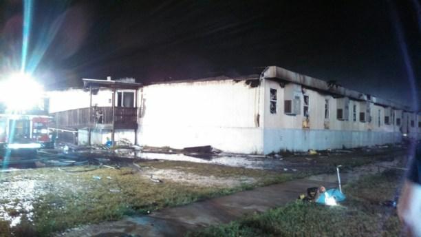 John Hanson Middle School trailer fire Baden VFD photo