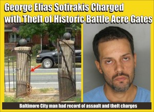 George Elias Sotirakis charged with stealing gates graphic