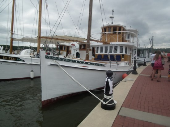 Historic Buyboats arrive at Breton Bay off of the Potomac River. THE CHESAPEAKE TODAY photo