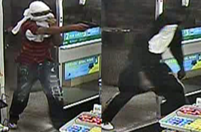 Do you know these heathens who stuck a gun in the face of a 7-Eleven clerk at the store located in a shopping center on Racetrack Road Bowie robbery on Aug. 29 2014?  Rat on them and win cash!