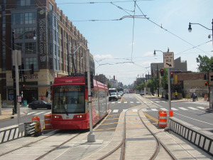 DC street car on H Street