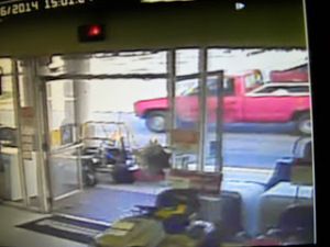 wanted red pickup driver