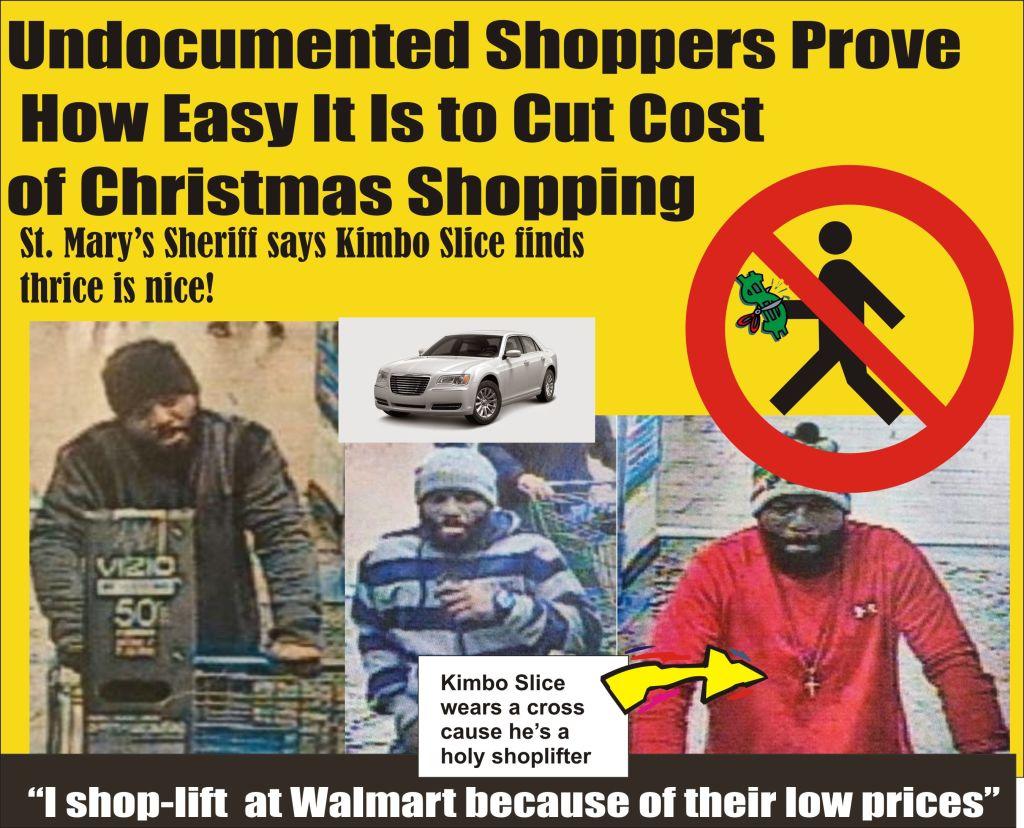Undocumented Shopper Kimbo Slice thrice is nice