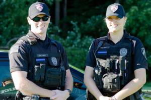 Westampton Township Police officers