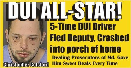 Christopher Cotsford DUI All Star