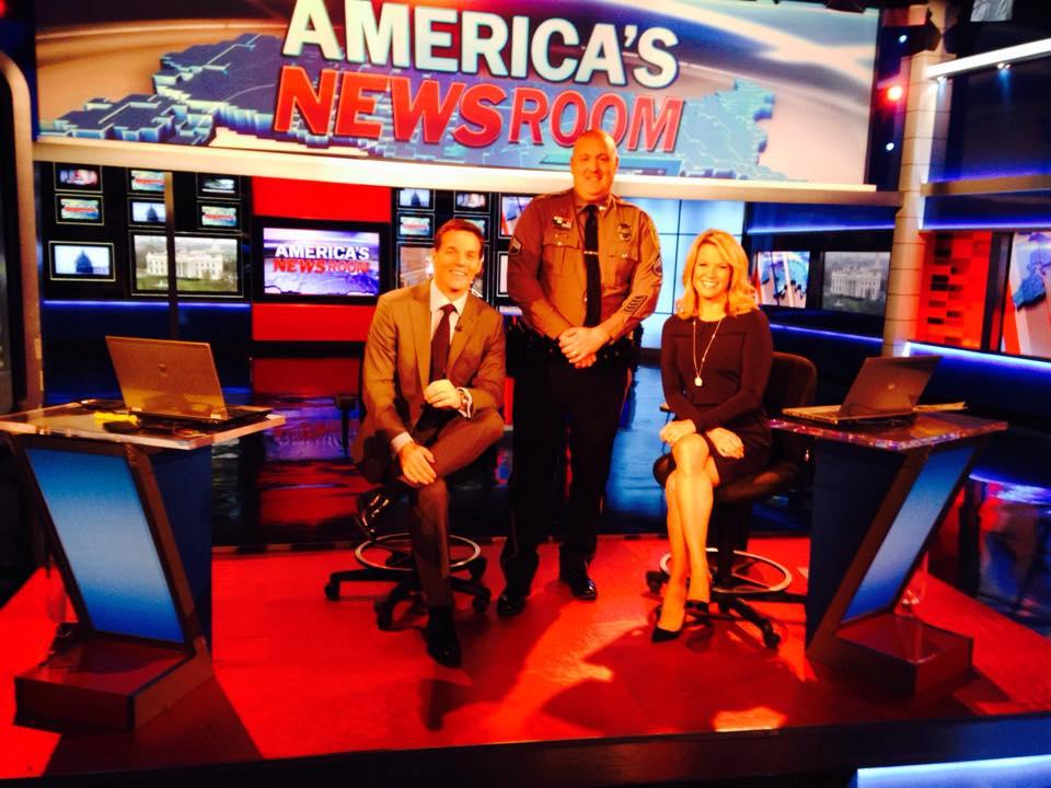 Dover Police visit Fox News in New York