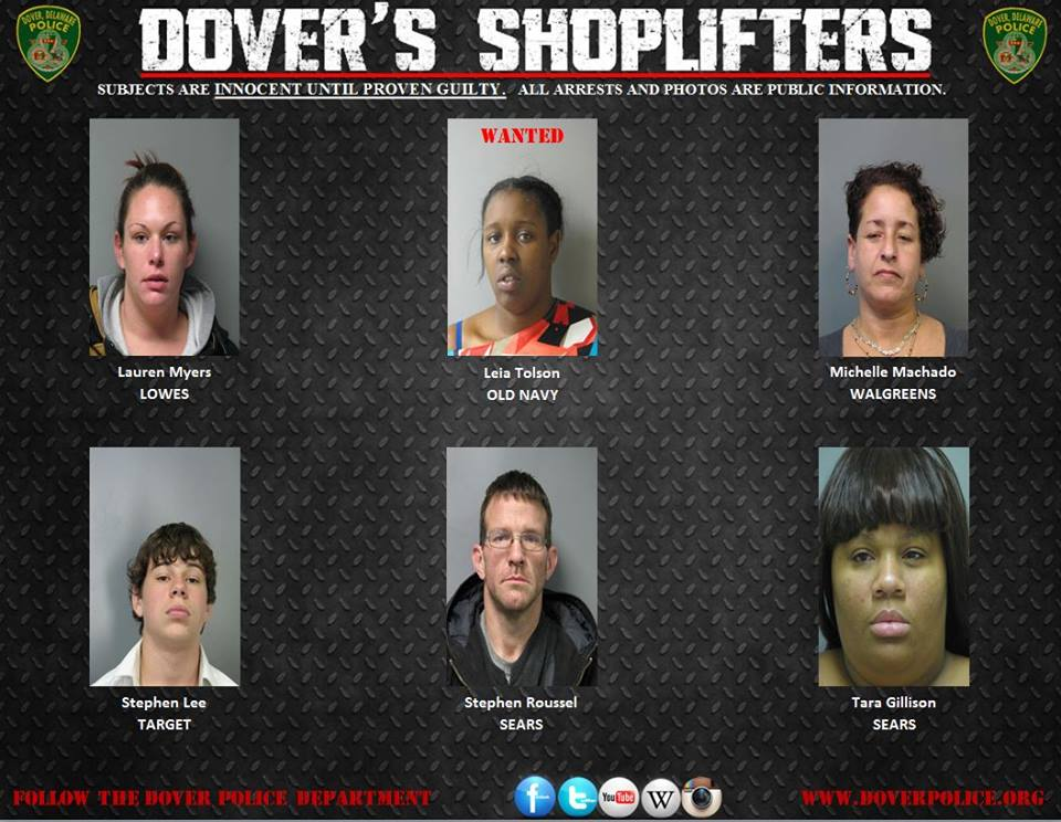Dovers shoplifters 010915