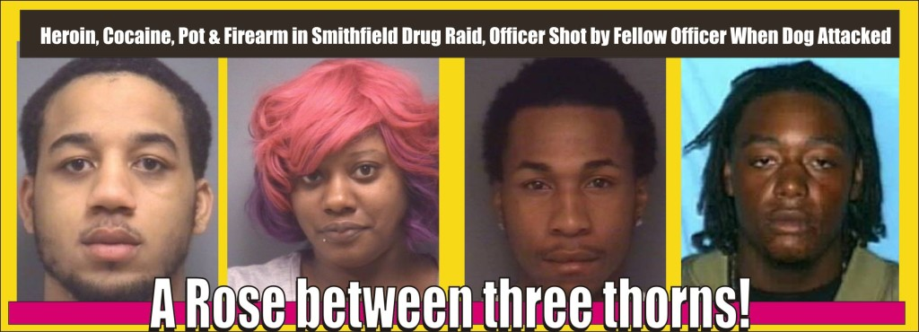 A Rose Between Three Thorns at Drug Raid Where Cop Was Shot By Cop