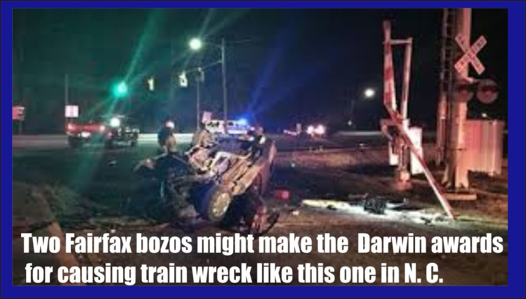 Two Fairfax Va men charged with causing train wreck for insurance