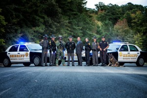 Wicomico County Sheriff Mike Lewis and roadblock