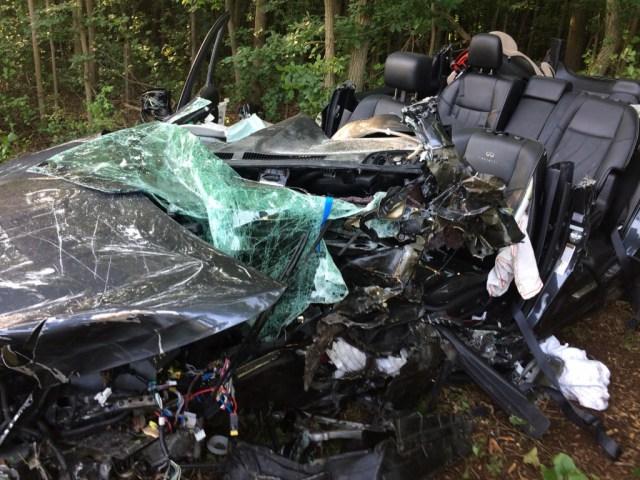 Crash scene photo by Joppa-Magnolia VFC.