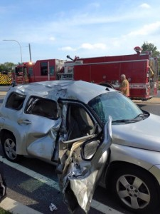 HHR hit by crotch rocket in center of Dover 083015 Photo courtesy of Dover Fire Department