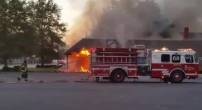 Washington College fire in Chestertown. photo courtesy  of WBAL