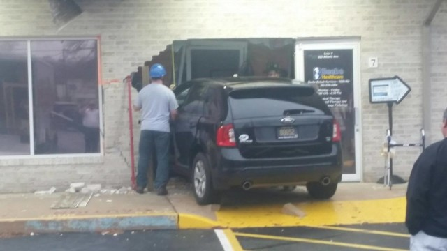 Driver says foot slipped hit rehab center in Millville Del.