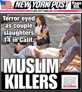 New York Post front page Muslim Killers