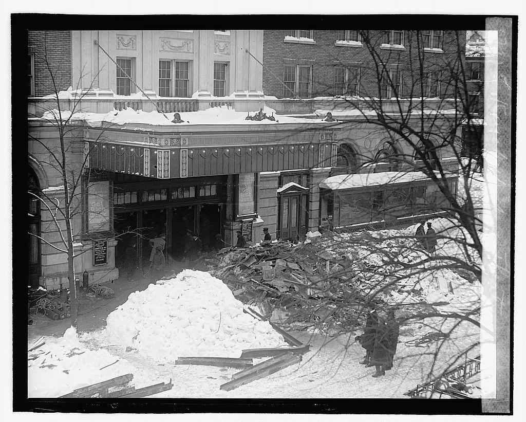 Knickerbocker Theater front entrance Washington, D. C. Jan 28 1922 disaster