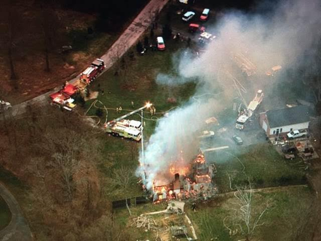 Sky view by Brad Freitas of Accokeek fire on Jan 4 2016