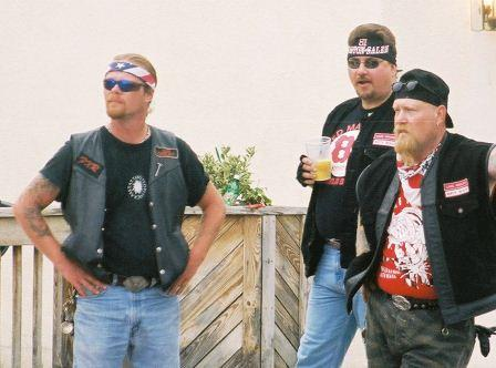Hells Angels North Beach 2002 in a Mexican standoff with area cops. THE CHESAPEAKE TODAY photos