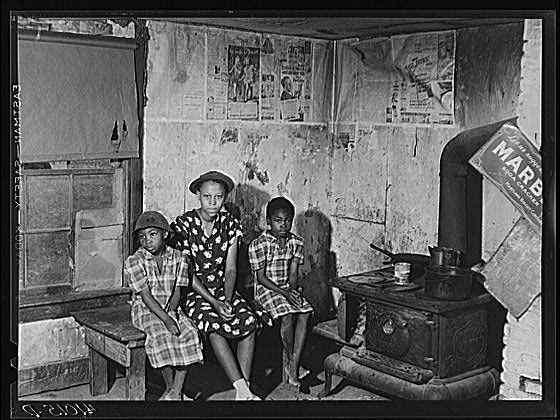 3 of 13 Children of William Sanders in Ridge, Md. during 1930's.
