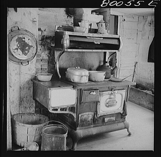 Kitchen stove in the John Fredrick home in Ridge, Md.