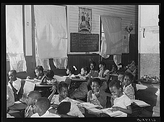 One room schoolhouse in Ridge, Md. in the 30's