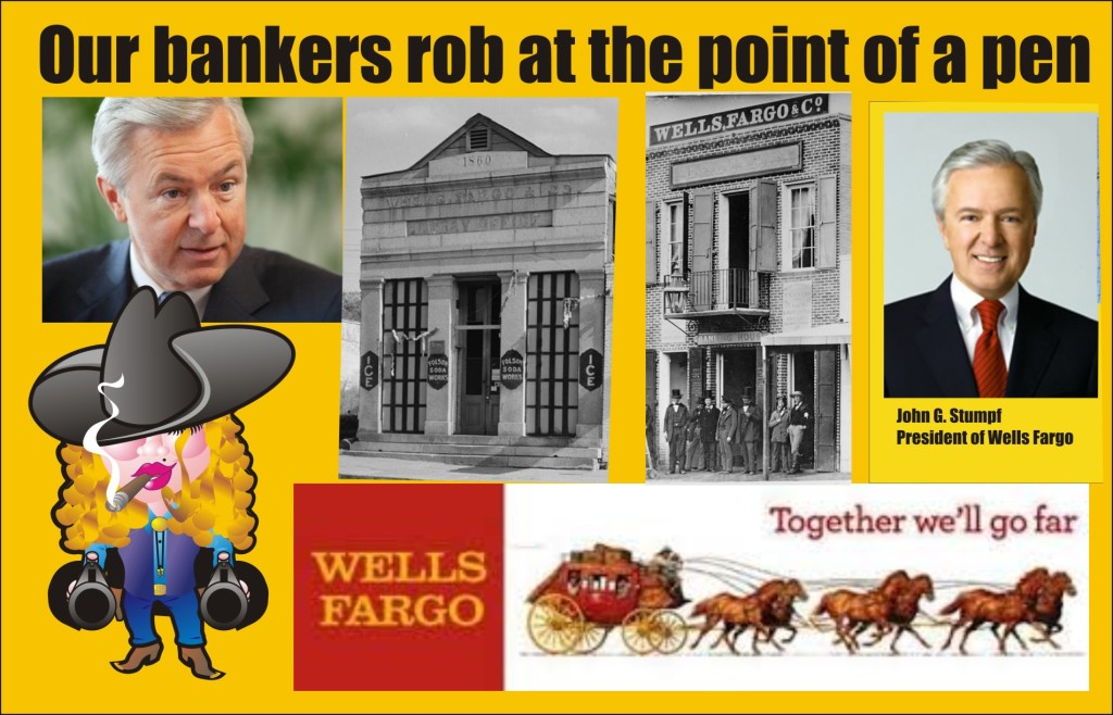 Wells Fargo BankerS Rob at the point of a pen