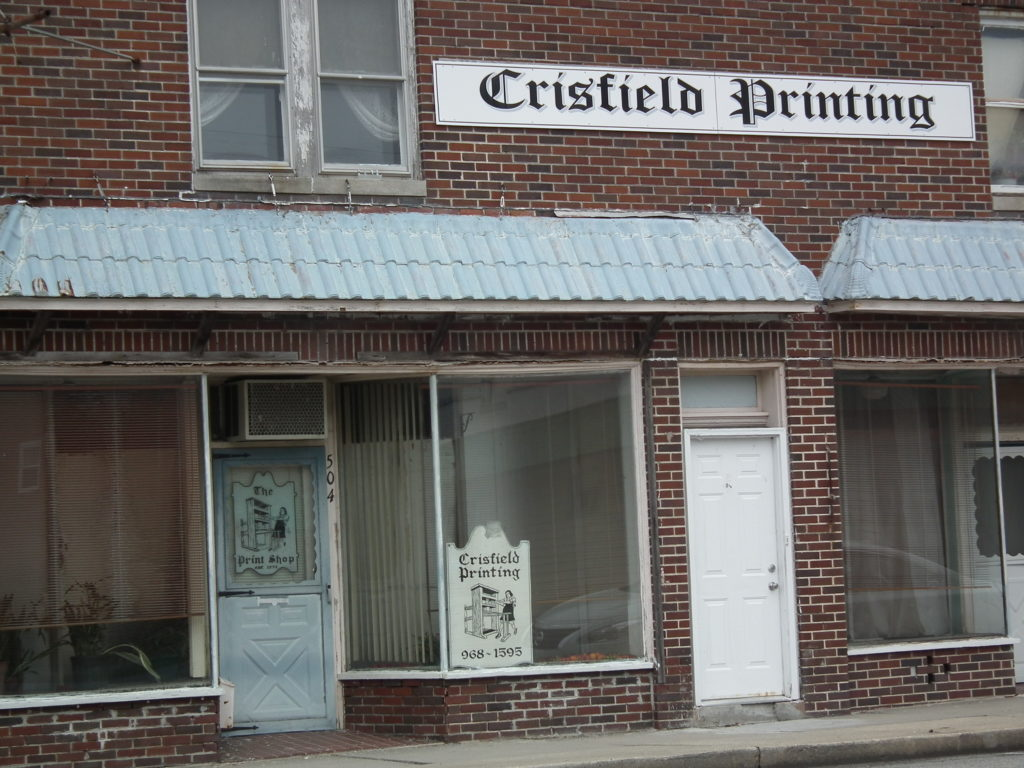 Downtown Crisfield, Md. A shadow of its glory days when King Oyster reigned. THE CHESAPEAKE TODAY photo