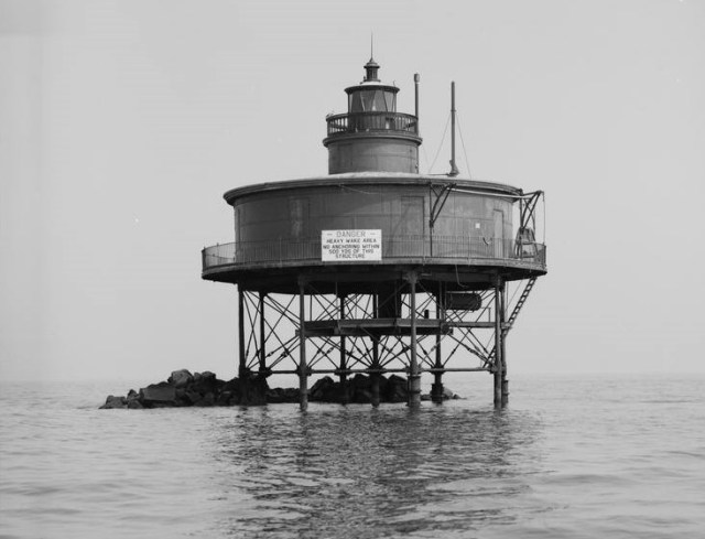 Significance: Built in 1856, the Seven-Foot Knoll Lighthouse was the second screwpile structure built by the U.S. Lighthouse Service. The present structure contains some elements of the original cast-iron structure, and the house dates from the late 19th Century. The light is historically linked to the development of the Port of Baltimore and sits beside one of the busiest shipping lanes on the East Coast. Technologically, the screwpile form illustrates Americans' ability to produce large cast-iron foundry castings, the same development that produced cast-iron architecture. In the period 1835-1860, Baltimore was a leading national center of this new metal-working technology and of new marine engineering techniques. Seven-Foot Knoll is, arguably, the most significant of the remaining screw-pile structures.