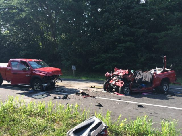 Leah Maria Bucia was pronounced dead in her red Dodge in head  on crash Calvert County Sheriff July 22, 2016